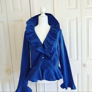 Ralph Lauren Blue Ruffle Shirt.